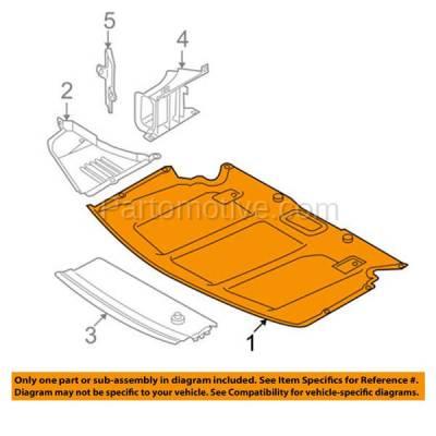 Aftermarket Replacement - ESS-1086 NEW 04-07 5-Series Engine Splash Shield Under Cover Center BM1228124 51717033761 - Image 3
