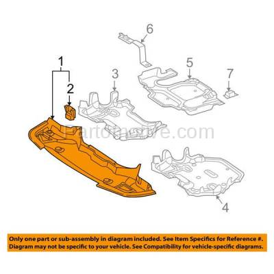 Aftermarket Replacement - ESS-1482 03-09 E-Class Front Engine Splash Shield Under Cover Guard MB1228104 2115204423 - Image 3