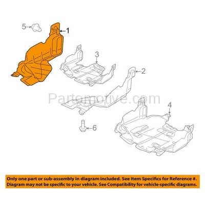 Aftermarket Replacement - ESS-1562R 08-11 Impreza Front Engine Splash Shield Under Cover Guard Right Side SU1228101 - Image 3