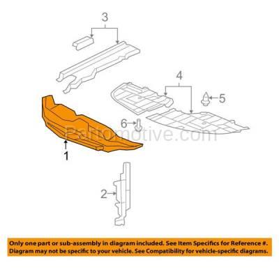 Aftermarket Replacement - ESS-1386 07-12 ES-350 Front Engine Splash Shield Under Cover Guard LX1224101 5329533050 - Image 3