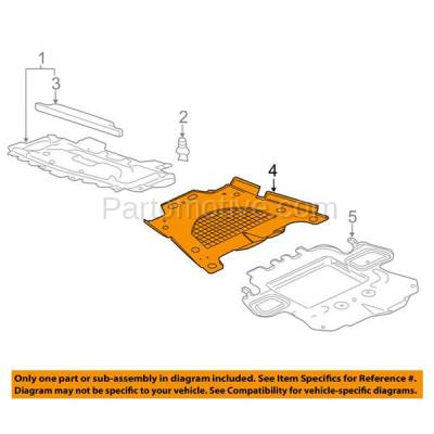 Aftermarket Replacement - ESS-1200 08-14 CTS RWD Front Engine Splash Shield Under Cover Undercar GM1228135 15849031 - Image 3
