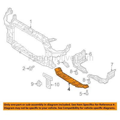 Aftermarket Replacement - ESS-1280 Front Engine Splash Shield Under Cover For 13-15 Elantra GT HY1228174 29110A5000 - Image 3