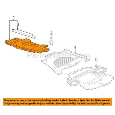 Aftermarket Replacement - ESS-1197 2009-2015 Cadillac CTS (V, Vsport, Vsport Premium) 6.2L Front Engine Under Cover Splash Shield Undercar Guard Radiator Air Deflector Plastic - Image 3
