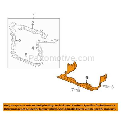 Aftermarket Replacement - ESS-1252 06-11 Civic Front Engine Splash Shield Under Cover Guard HO1228112 74111SNAA00 - Image 3