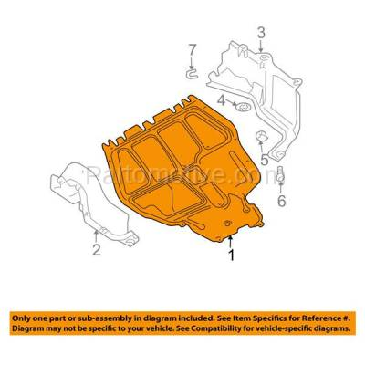Aftermarket Replacement - ESS-1662 VW Golf, Jetta Engine Splash Shield Under Cover Diesel Automatic Trans VW1228107 - Image 3