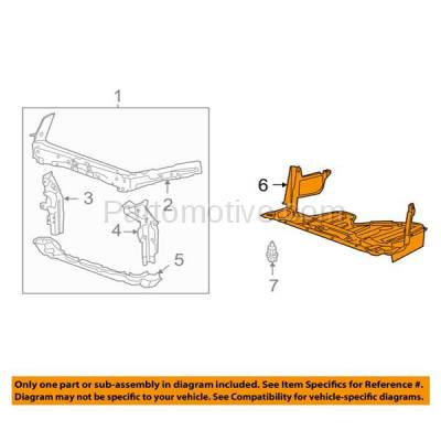 Aftermarket Replacement - ESS-1258 08-12 Accord V6 Front Engine Splash Shield Under Cover Undercar Guard HO1228123 - Image 3