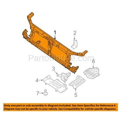 Aftermarket Replacement - RSP-1621 2008-2012 Nissan Pathfinder (4.0 & 5.6 Liter V6/V8 Engine) Front Center Radiator Support Core Assembly Primed Made of Steel - Image 3
