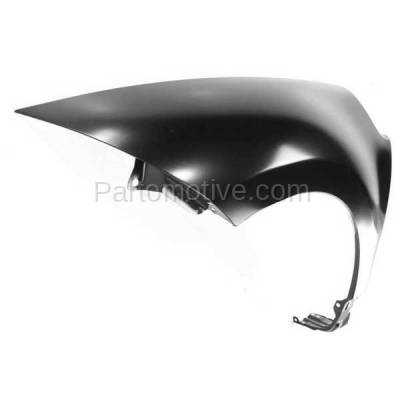 Aftermarket Replacement - FDR-1234L 2006-2012 Mitsubishi Eclipse (2.4 & 3.8 Liter Engine) Front Fender Quarter Panel (without Molding Holes) Primed Steel Left Driver Side - Image 2