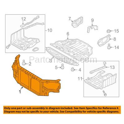Aftermarket Replacement - RSP-1412 2011-2014 Hyundai Sonata (GL, GLS, Limited, SE) Sedan 4-Door (2.4 Liter Engine) Front Center Radiator Support Core Assembly Plastic - Image 3