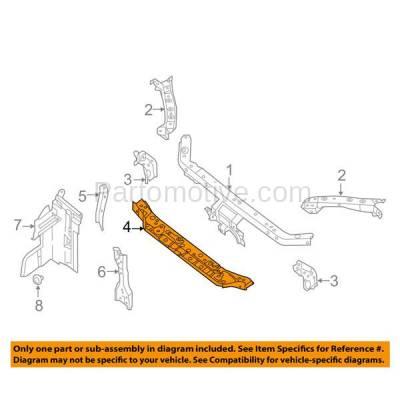 Aftermarket Replacement - RSP-1637 2013-2014 Nissan Sentra (FE+S, FE+SV, S, SL, SR, SV) 1.8L Front Radiator Support Lower Crossmember Tie Bar Panel Primed Steel - Image 3