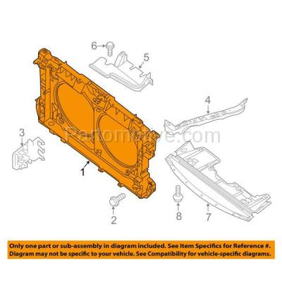 Aftermarket Replacement - RSP-1615 2009-2014 Nissan Maxima & 2010-2013 Altima (Base, Hybrid, S, SL, SR, SV) Front Radiator Support Core Assembly Primed Plastic - Image 3