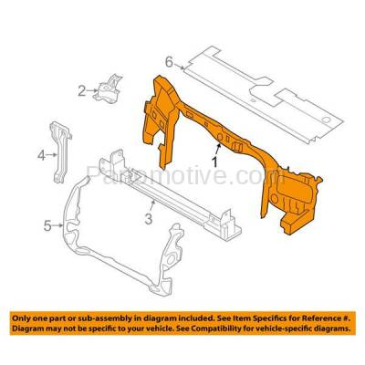 Aftermarket Replacement - RSP-1169 2009-2012 Ford Escape & 2009-2011 Mercury Mariner Front Radiator Support Upper Crossmember Tie Par Panel Primed Made of Steel - Image 3