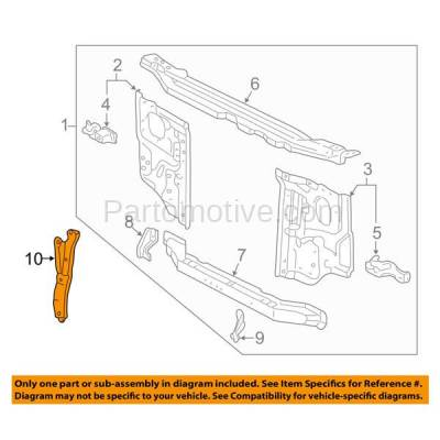 Aftermarket Replacement - RSP-1802 1995-2004 Toyota Tacoma Pickup Truck & 1996-2002 4Runner Front Radiator Support Center Hood Latch Lock Support Bracket Steel - Image 3