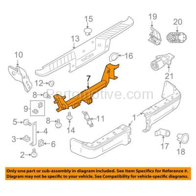 Aftermarket Replacement - BRF-1210R 2009-2014 Ford F-Series F150 (Styleside) (with Base Class III Tow Hitch) Rear Bumper Impact Bar Crossmember Reinforcement Steel - Image 3