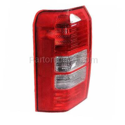Aftermarket Auto Parts - TLT-1365LC CAPA 08-13 Patriot 2 Holes Taillight Taillamp Rear Brake Light Lamp Driver Side - Image 2