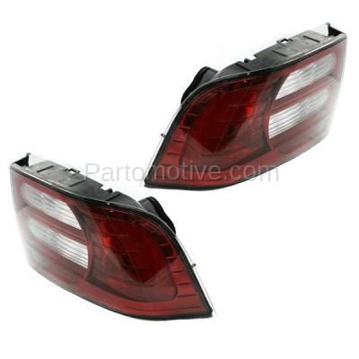 Aftermarket Auto Parts - TLT-1353LC & TLT-1353RC CAPA 07-08 Acura TL Base Taillight Taillamp Brake Light Lamp Left Right Set PAIR - Image 2