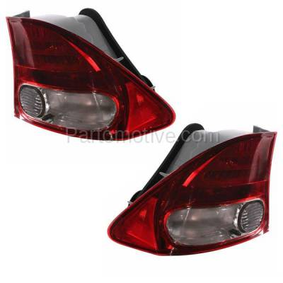 Aftermarket Auto Parts - TLT-1376LC & TLT-1376RC CAPA 09-11 Civic Sedan Taillight Taillamp Brake Light Lamp Left & Right Set PAIR - Image 2