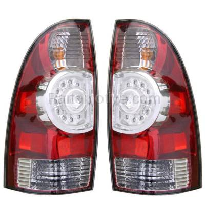 Aftermarket Auto Parts - TLT-1616LC & TLT-1616RC CAPA 08-13 Tacoma Truck LED Taillight Taillamp Rear Brake Light Lamp Pair - Image 1