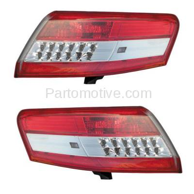 Aftermarket Auto Parts - TLT-1619LC & TLT-1619RC CAPA 10-11 Camry Taillight Taillamp Outer Brake Light Lamp Left & Right Set PAIR - Image 1
