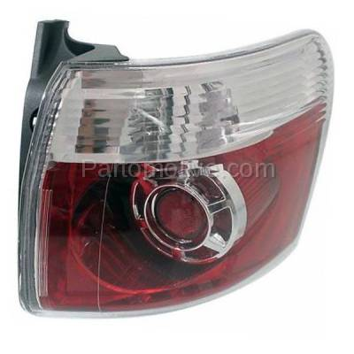 Aftermarket Auto Parts - TLT-1621RC CAPA 2007-2012 GMC Acadia 3.6L Outer Body Mounted Taillight Rear Brake Light Halogen (with Bulb) Red Clear Lens & Housing Right Passenger Side - Image 2