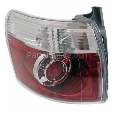 Aftermarket Auto Parts - TLT-1621LC CAPA 2007-2012 GMC Acadia 3.6L Outer Body Mounted Taillight Rear Brake Light Halogen (with Bulb) Red Clear Lens & Housing Left Driver Side - Image 2