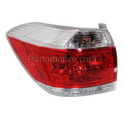 Aftermarket Auto Parts - TLT-1647LC CAPA 11-13 Highlander Taillight Taillamp Rear Brake Light Lamp Driver Side LH L - Image 2