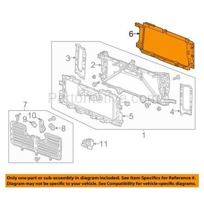 Aftermarket Replacement - RSP-1301 2014-2018 Chevrolet Silverado 1500 Pickup Truck (Standard, Extended, Crew Cab) Front Radiator Support Frame Surround Seal Plastic - Image 3