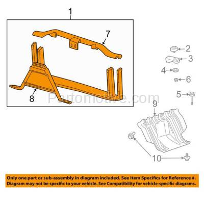 Aftermarket Replacement - RSP-1305 2003-2006 Cadillac Escalade & Avalanche/Suburban/Tahoe/Yukon & 2003-2007 Chevrolet/GMC Silverado/Sierra Pickup Truck Front Radiator Support - Image 3
