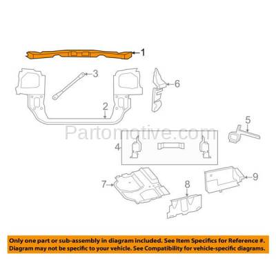 Aftermarket Replacement - RSP-1091 2008-2010 Chrysler Town & Country And Dodge Grand Caravan Front Upper Radiator Support Core Upper Tie Bar Assembly Primed Made of Steel - Image 3