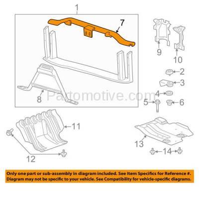 Aftermarket Replacement - RSP-1307 2007-2013 Chevrolet/GMC Silverado/Sierra 1500 & 2007-2010 2500HD/3500HD Pickup Truck Radiator Support Upper Crossmember Tie Bar - Image 3