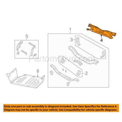 Aftermarket Replacement - RSP-1077 2007-2010 Jeep Compass (Base, Limited, North Edition, Sport) Front Center Radiator Support Assembly Upper Tie Bar Primed Made of Steel - Image 3