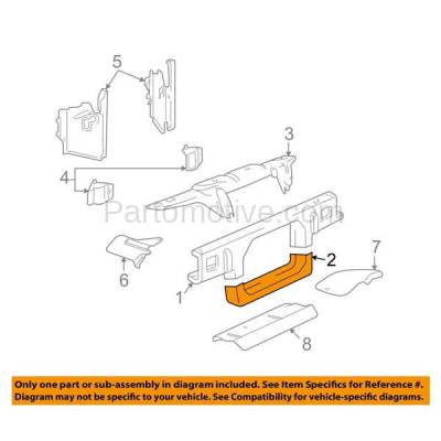 Aftermarket Replacement - RSP-1151 2003-2011 Ford Crown Victoria & Lincoln Town Car & Mercury Grand Marquis, Marauder Radiator Support Lower Crossmember Tie Bar Steel - Image 3
