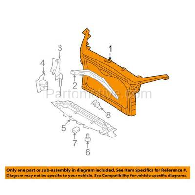 Aftermarket Replacement - RSP-1202 2006-2009 Ford Fusion, Mercury Milan & 2006 Lincoln Zephyr (2.3L & 3.0L) Front Radiator Support Core Assembly Plastic with Steel - Image 3
