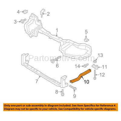 Aftermarket Replacement - RSP-1170L 2013-2018 Ford Escape & 2015-2018 Lincoln MKC Front Radiator Support Outer Lower Sidemember Tie Bar Bracket Primed Driver Side - Image 3