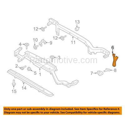 Aftermarket Replacement - RSP-1159 2015-2018 Ford Edge & 2016-2018 Lincoln MKX Front Radiator Support Center Support Brace Bracket Primed Made of Steel - Image 3