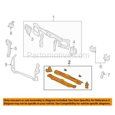 Aftermarket Replacement - RSP-1164 2001-2007 Ford Escape & 2005-2007 Mercury Mariner Front Radiator Support Lower Crossmember Tie Bar Panel Primed Made of Steel - Image 3
