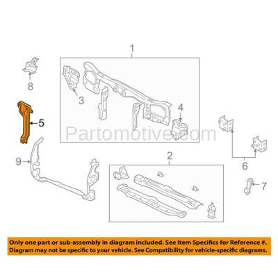 Aftermarket Replacement - RSP-1166 2005-2008 Ford Escape & Mercury Mariner (2.3 & 3.0 Liter) Front Center Radiator Support Hood Latch Support Bracket Primed Made of Steel - Image 3