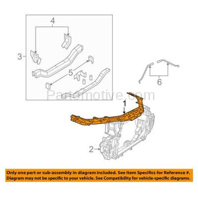 Aftermarket Replacement - RSP-1062 2008-2014 Dodge Aveneger (Sedan 4-Door) (2.4 & & 2.7 & 3.5 & 3.6 Liter) Front Center Radiator Support Core Assembly Primed Plastic - Image 3