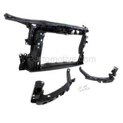 Aftermarket Replacement - RSP-1013 2009-2013 Audi A3 & A3 Quattro (30 Aniversario, Base, Sportback, TDI) (Hatchback 4-Door) Front Center Radiator Support Core Assembly Primed Plastic - Image 2