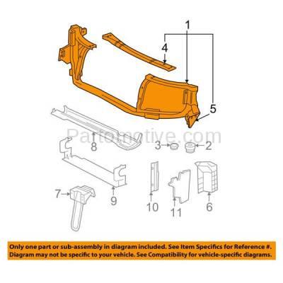 Aftermarket Replacement - RSP-1254 2004-2007 Buick Rainier & 2002-2009 Chevy Trailblazer/GMC Envoy & 2003-2008 Isuzu Ascender & 2005-2009 Saab 9-7x Radiator Support Assembly - Image 3