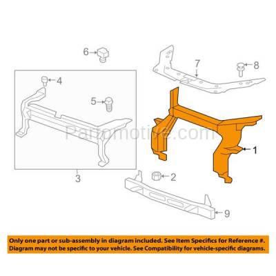 Aftermarket Replacement - RSP-1229 2007-2016 GMC Acadia & 2017 Acadia Limited (3.6 Liter V6 Engine) Radiator Support Upper Crossmember Tie Bar Panel Primed Steel - Image 3