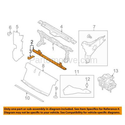 Aftermarket Replacement - RSP-1183 2009-2014 Ford F-150 Pickup Truck (Standard, Extended, Crew Cab) Front Radiator Support Lower Crossmember Tie Bar Primed Steel - Image 3