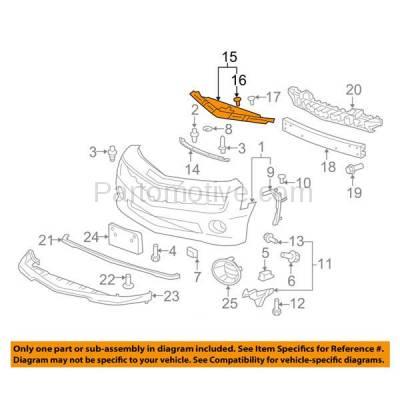 Aftermarket Replacement - RSP-1240 2010-2015 Chevrolet Camaro (LS, LT, SS, Z/28, ZL1) Convertible & Coupe 2-Door Front Radiator Support Upper Crossmember Tie Bar Steel - Image 3