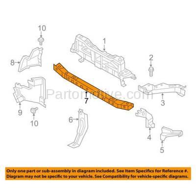 Aftermarket Replacement - RSP-1241 2015-2018 Chevy City Express (LS, LT) Cargo Van (2.0 Liter Engine) Front Center Radiator Support Lower Crossmember Tie Bar Steel - Image 3
