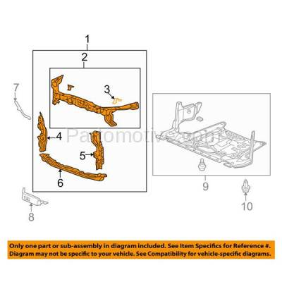 Aftermarket Replacement - RSP-1012 2011-2014 Acura TSX (V6, V6 Tech) 3.5L (Sedan 4-Door) Front Center Upper Radiator Support Core Assembly Primed Made of Steel - Image 3