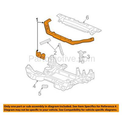 Aftermarket Replacement - RSP-1247 2003-2007 Cadillac CTS (Base, Luxury, Luxury Sport, V) Front Radiator Support Upper Crossmember Tie Bar Panel Primed Made of Steel - Image 3