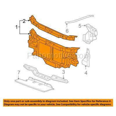 Aftermarket Replacement - RSP-1263 2003-2018 Chevrolet Express & GMC Savana (Models without Chrome Grille & with Sealed Beam Headlamps) Front Radiator Support Core Assembly - Image 3