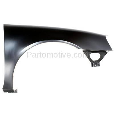 Aftermarket Replacement - FDR-1369R 2004-2008 Pontiac Grand Prix (Base, GT, GT1, GT2, GTP) Front Fender Quarter Panel (without Molding Holes) Primed Steel Right Passenger Side - Image 1