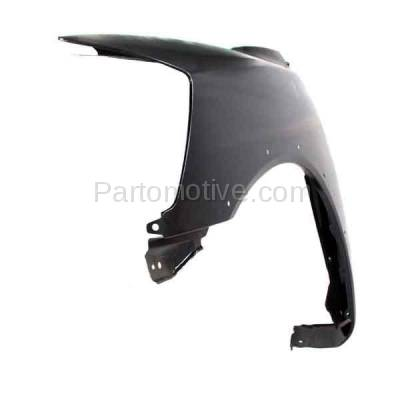 Aftermarket Replacement - FDR-1758L 2008-2015 Nissan Titan Pickup Truck USA Built (with Sport Appearance Package) Front Fender (with Flare Holes) Primed Steel Left Driver Side - Image 2