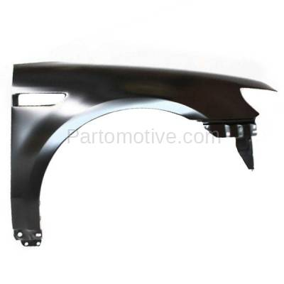 Aftermarket Replacement - FDR-1746R 2008 2009 Ford Taurus (Limited, SE, SEL) Front Fender Quarter Panel (with Applique Provision) Primed Steel Right Passenger Side - Image 1